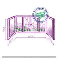 Балкон стандартное остекление