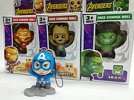 "Игрушка мульт-герои брелок ""Avengers"" Face Change Doll"