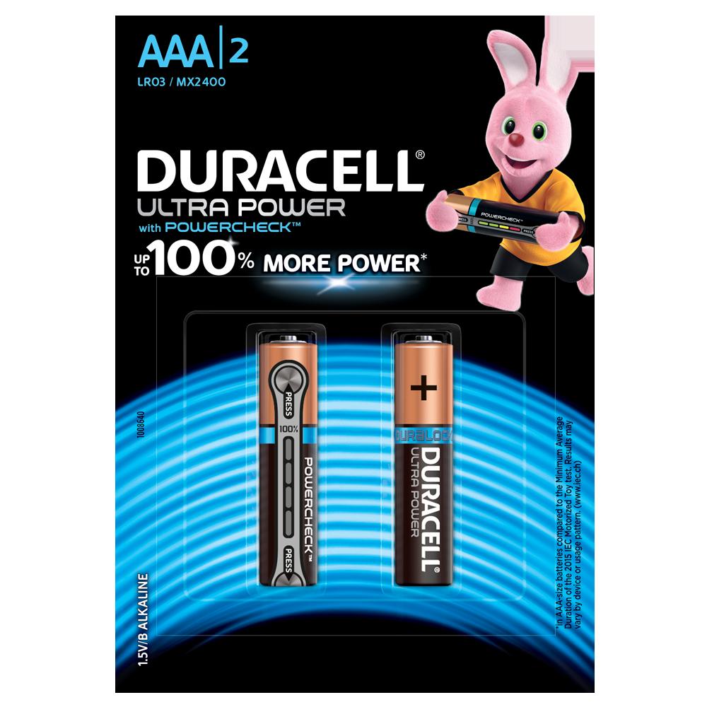 Батарейка DURACELL AAA (LR03) KPD 02*10 Ultra уп. 1x2 шт.