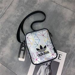 Сумка-планшет Adidas серебристо-серая геометрия (реплика)