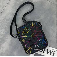 Сумка-планшет Adidas черная геометрия (реплика)
