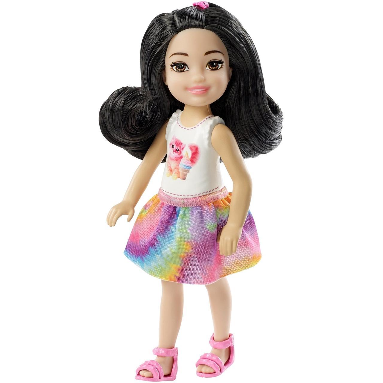 Кукла Barbie Челси Шатенка в топе с котенком FXG77 / DWJ33