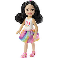 Кукла Barbie Челси Шатенка в топе с котенком FXG77 / DWJ33, фото 1