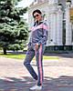 Женский велюровый спортивный костюм S M L, фото 2
