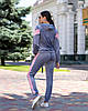 Женский велюровый спортивный костюм S M L, фото 4
