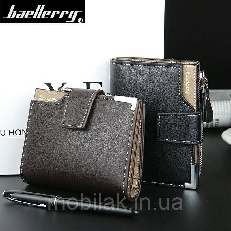 Удобный и практичный мужской брендовый кошелек Baellerry