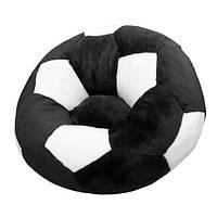 Кресло детское Мяч большое черно-белое