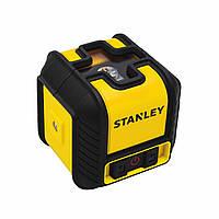 """Уровень лазерный кросслайнер """"Cubix"""", красный, дальность 10м, ошибка +/- 0,6 мм/10м  артикул: STHT77498-1"""