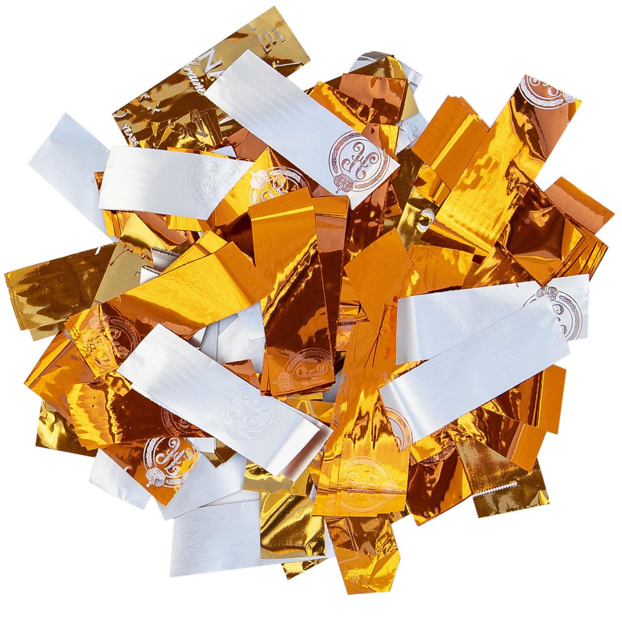 Конфетти-Метафан ЛК621 Оранжево-Белый 2х6 1кг