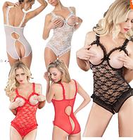 Женское боди для секса черное , красное боди, белое боди, фото 1