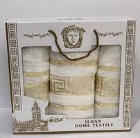 Подарочный набор полотенец в баню 3 шт