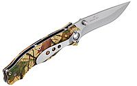 Нож складной с камуфлированными накладками,с металлической рукоятью, на каждый день, устойчив к загрязнению, фото 1