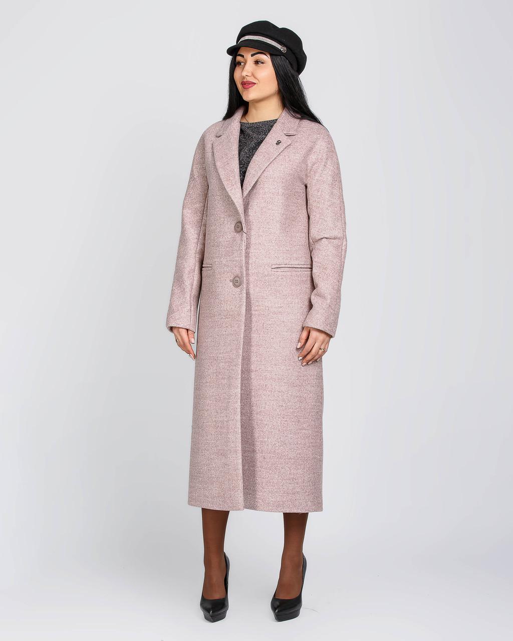 Длинное классическое женское пальто с английским воротником, размеры 40-48
