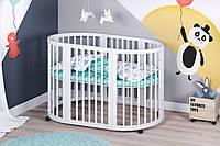 Кроватка детская Lyahome трансформер 7 в 1 звезды