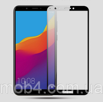 Захисне скло для Huawei (Хуавей) Y6 2018 (На весь екран)