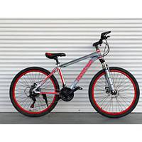 """Велосипед АЛЮМИНИЕВЫЙ 26 дюймов """"424"""" красный  (ORIGINAL SHIMANO)"""