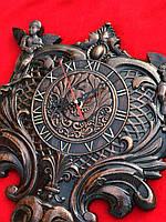 Часы настенные деревянные из дуба 420х380х40 мм