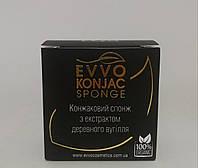 Конжаковый спонж с экстрактом древесного угля Evvo Cosmetics Корея, фото 1