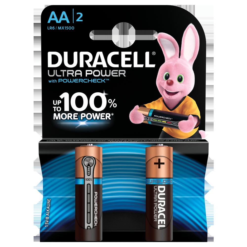 Батарейка DURACELL LR06 KPD 02*20 Ultra уп. 1x2 шт.