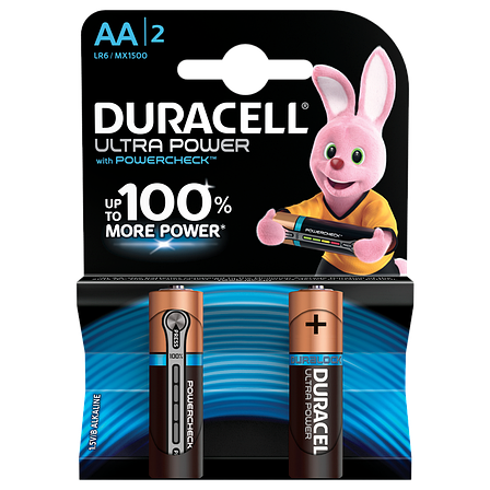 Батарейка DURACELL LR06 KPD 02*20 Ultra уп. 1x2 шт., фото 2