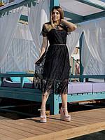 Брендовое кружевное платье 5025