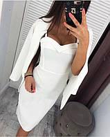 Женское платье с пиджаком белое 3 расцветки