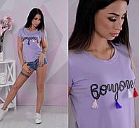 Красивая женская футболка из хлопка, фото 1