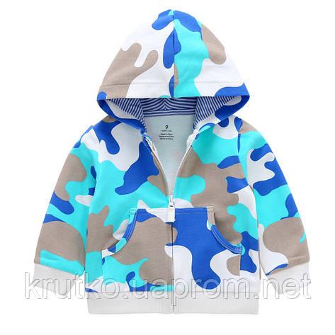 Кофта для мальчика Голубой хаки Berni, фото 2