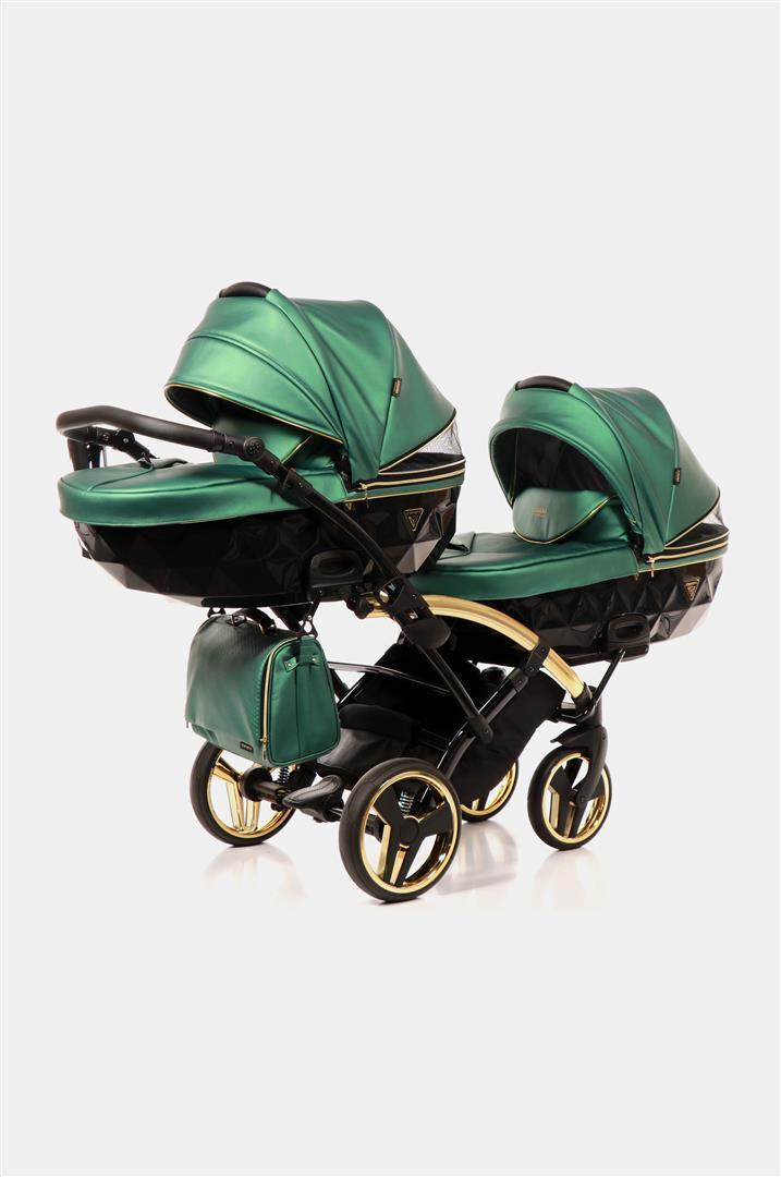 Дитяча коляска для двійнят Junama Fluo Line Duo Slim