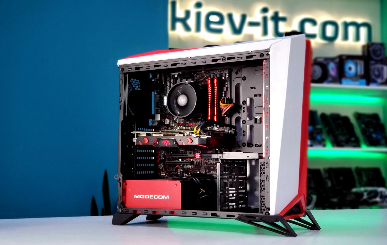 "Игровая сборка ""Alpha 2"" Ryzen 5 1600 / B450 / RX 580 8GB / DDR4 8GB / SSD 240GB / 600W"