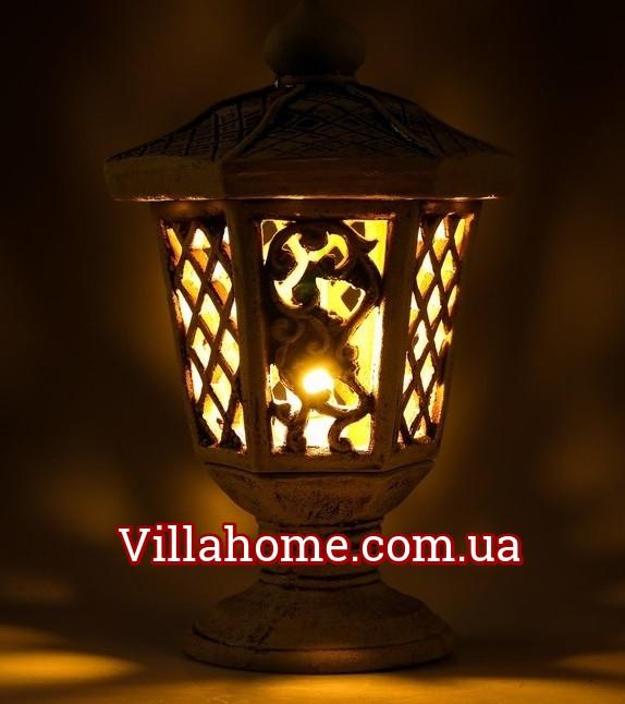 """Уличный светильник из керамики """"Сапфир"""" Высота 48 см"""