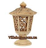 """Уличный светильник из керамики """"Сапфир"""" Высота 48 см, фото 2"""