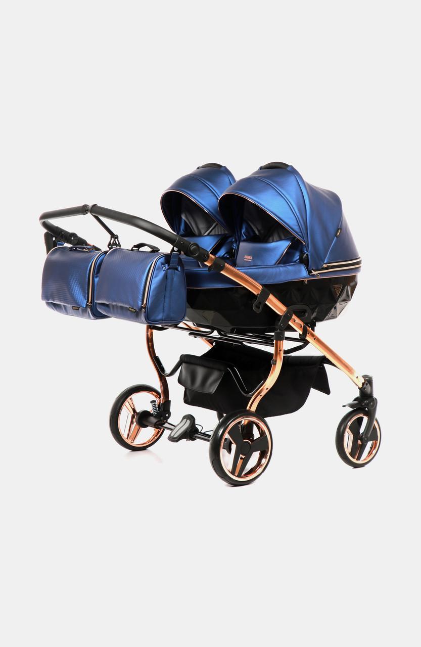 Дитяча коляска для двійнят Junama Fluo Line Duo