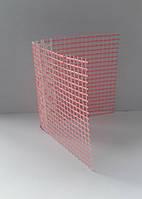 Уголок ПВХ перфорированный с сеткой 125гр. 2,5м 10х10см
