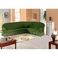 Чехол натяжной на угловой диван MILANO  зелёный  и еще 15 расцветок