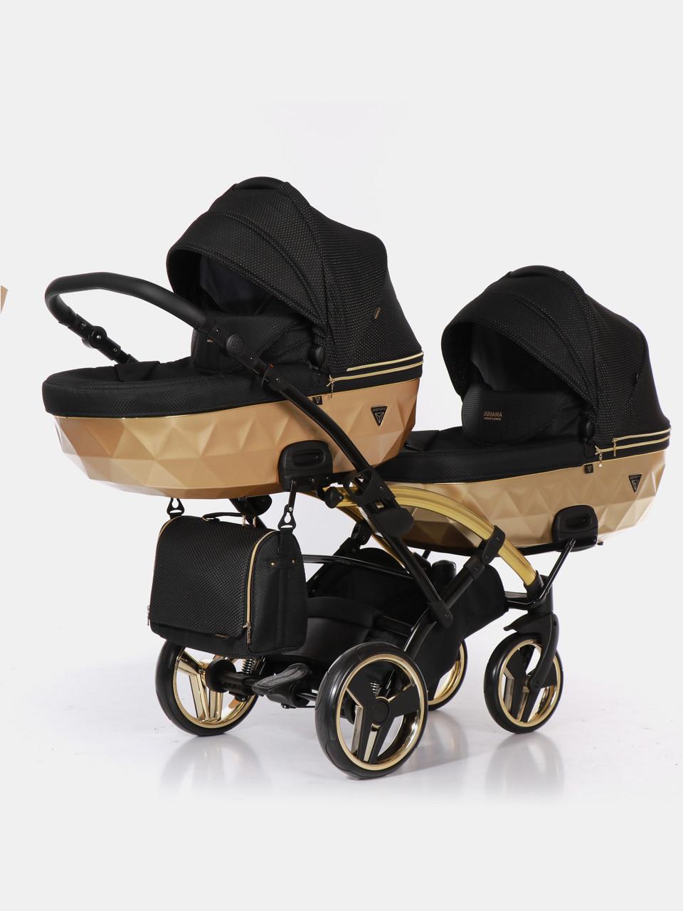 Дитяча коляска для двійнят Junama Mirror Satin Duo Slim 03