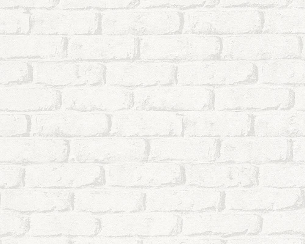 Плотные и прочные 3д обои, бумажные белые обои под кирпич 343011