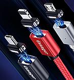 Essager магнитный кабель usb Lightning быстрая зарядка 3А для iOS Apple iPhone Цвет чёрный, фото 2