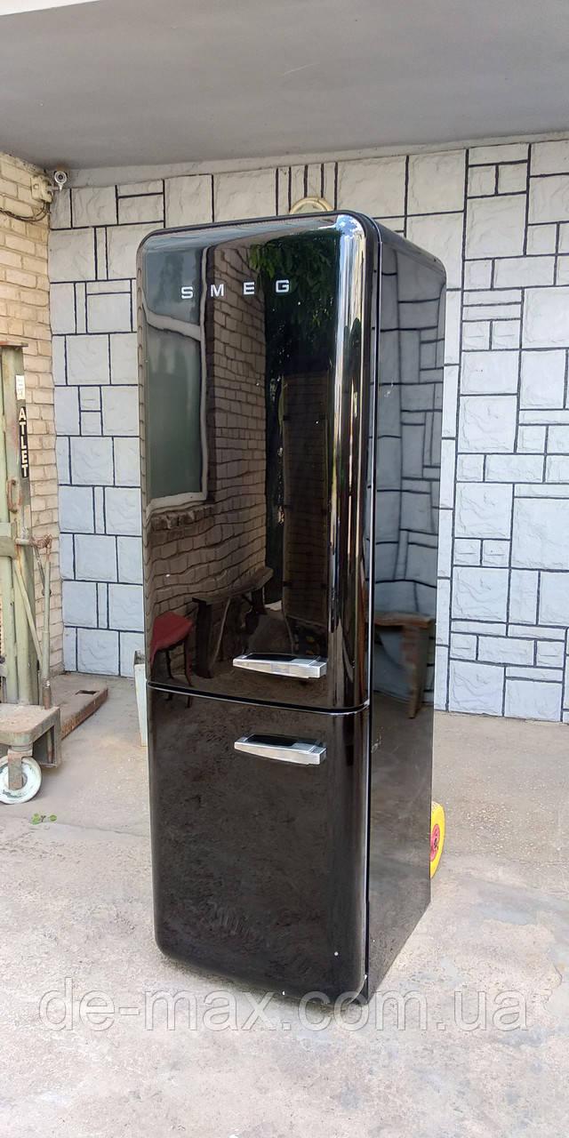 Ексклюзивный холодильник в ретро стиле Смег Smeg FAB32LNE1  Черный А+++ No Frost