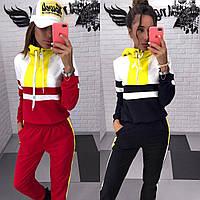 """Спортивный костюм женский с капюшоном, размеры S-L (2цв) """"FRAMATIC"""" купить недорого от прямого поставщика, фото 1"""