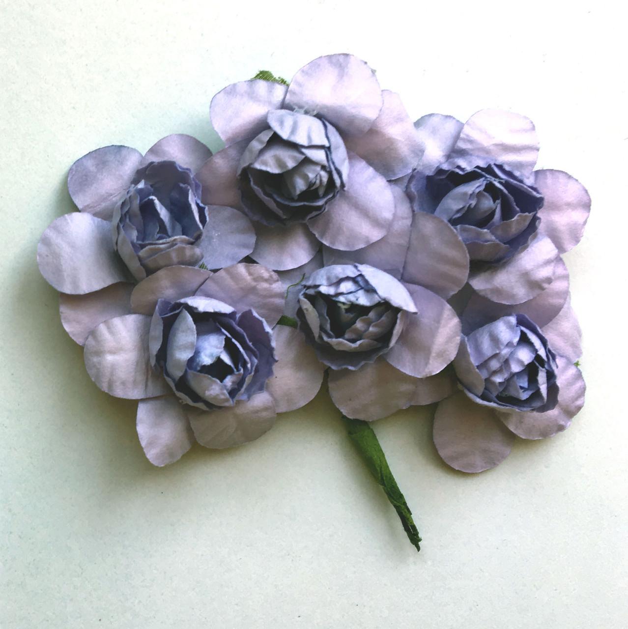 Цветы из бумаги 4 см сиреневые