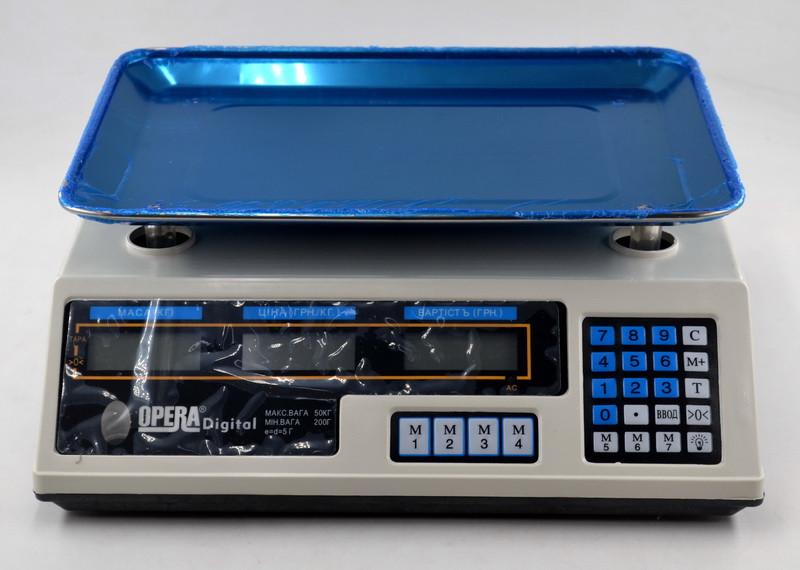Рыночные электронные торговые весы | Ваги для торгівлі Opera YZ-218 (50 кг)