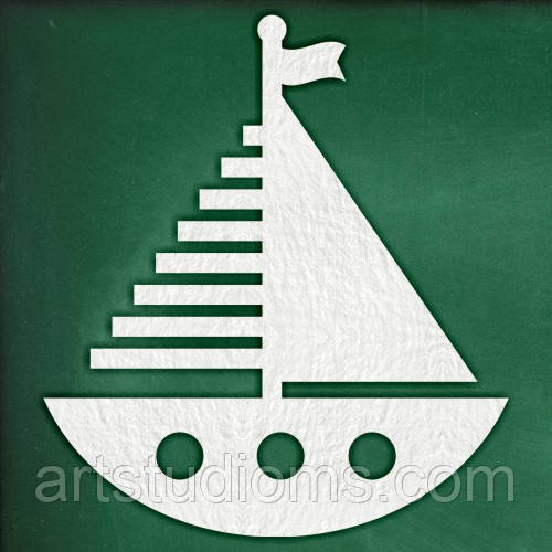"""Чипборд """"Лодка с парусами"""""""