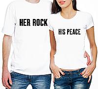 """Парные футболки """"Her Rock/His Peace"""" (частичная, или полная предоплата)"""