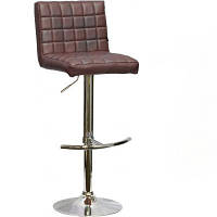 Мягкий барный стул хокер Версаль браун