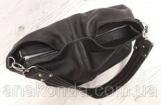 211  Натуральная кожа, Объемная сумка женская Сумка через плечо Кожаная сумка женская Кожаная сумка черная, фото 2