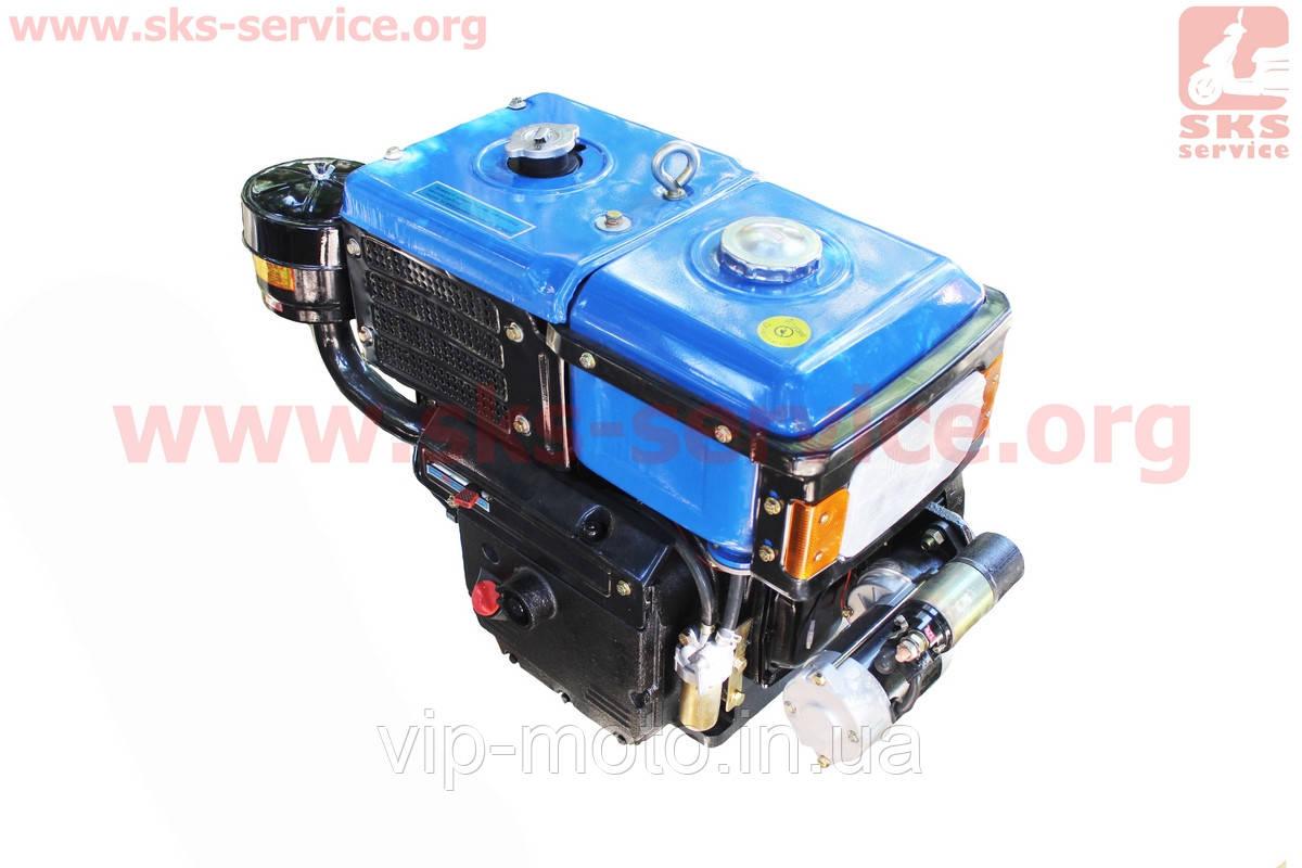 Двигатель мотоблочный в сборе + стартер 12л.с. (завод ZUBR) SH195NDL