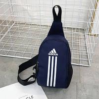 Сумка через плечо Adidas темно-синяя (реплика)