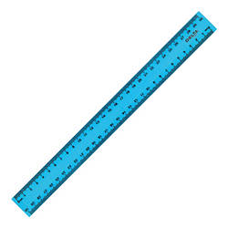 Лінійка пластикова, 30см, блакитна