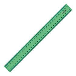 Лінійка пластикова, 30см, зелена